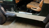1976-95 JEEP CJ7 WRANGLER-YJ-DOOR-ENTRY-GUARDS-PAIR-BLACK-DIAMOND-PLATE
