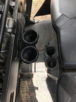POLARIS RANGER CREW 2018 and UP BLACK Back Seat JUMBO CUP HOLDERS