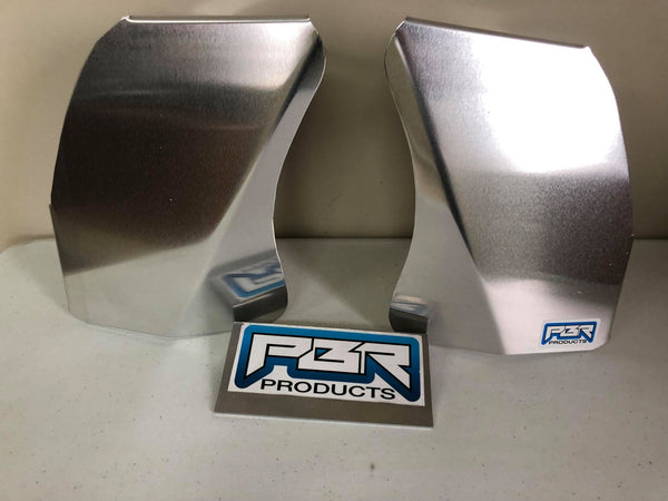 Yamaha Raptor 660 Air Scoops Radiator Scoops Shrouds Mill Finish