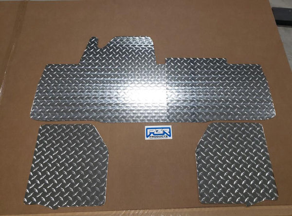 Honda Pioneer 700-4 floor mats boards 4 pc Dia Plate Front and Rear