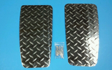 Club Car DS Golf Cart Diamond Plate NO STEP COVERS - Diamond Plate Aluminum