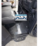 Polaris Ranger 1000  Full Size Floor Boards 2020 and UP - CREW 4 Pcs POLISHED ALUMINUM