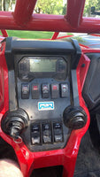 PBR Products compatible with Honda Talon 1000 Dash Plate 5 Switch Panel Black BUILT OUT w/ Voltmeter