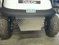 Club Car Precedent Golf Cart Diamond plated Polished Alum Front Bumper Cover