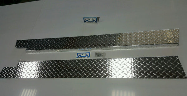 "JEEP CJ7 6"" Wide Diamond plate Rocker Guards w/ 90° 1 inch Bend hide rust"