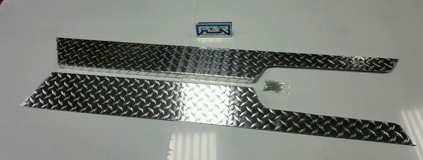5 1/2 Diamond Plate Rocker Guards 97-06 Jeep TJ polished aluminium with 90° 1 ""