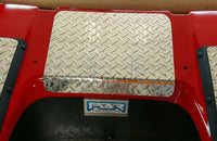 Club Car DS Golf Cart Diamond Plate Polished Aluminum Access Panel 1982 and up
