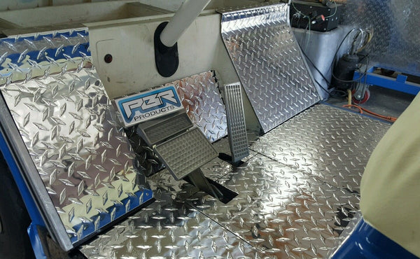 YAMAHA GOLF CART G2 - G9 DIAMOND PLATE 7 peice floor board kit