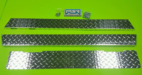 YAMAHA GOLF CART-DIAMOND PLATE ROCKERS G2-G9 Rocker panels and kick panel.