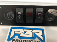 Honda Pioneer 700 Lower Warning switch panel: Winch, voltmeter, Light Bar, USB - 3 switch RED