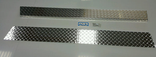 "JEEP YJ 6"" Wide Diamond plate Rocker Guards w/ 90° 1 inch Bend. NO CUT OUT"