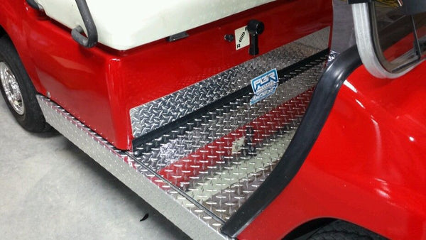 YAMAHA GOLF CART-DIAMOND PLATE KICK TRIM G8-G14-G16 G19 and UP