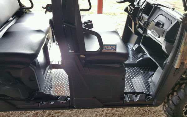 Polaris Ranger 570 Mid Size Crew Cab Floor Boards Mats 2014 up Diamond plate - Part#PR570MSC