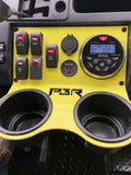 "PBR Products fits Honda Pioneer 5 Switch 2 Outlet Holes 3"" radio hole Project PBR Midnight Edition"