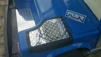 Yamaha G2 G9 2 piece kit. Golf Cart Diamond Plate NO STEP COVERS