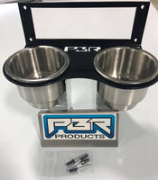 Honda Pioneer 700 Cup holder with stainless steel cups