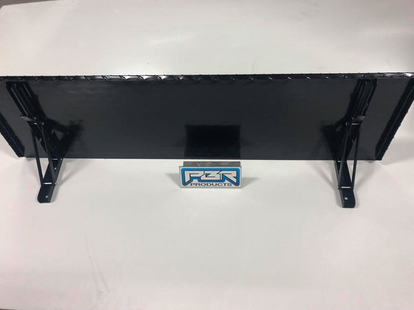"PBR Products Diamond Plate 8"" Folding Shelf for Pit Boss 820D Pellet Grill"