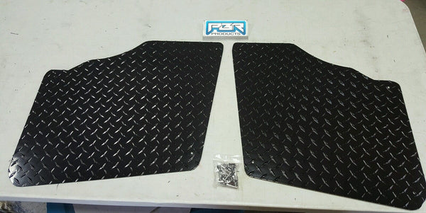 Polaris Ranger 700 - 800 2009-2014 Black Diamond Plate Aluminum Floor Boards