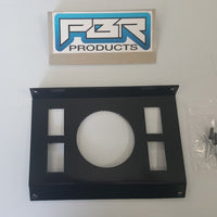 "Polaris RZR In-Dash Stereo Panel Blank Panel with 3"" round hole 4 switch holes"