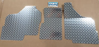 Honda Pioneer 1000 front floor boards 3 piece set Silver Diamond Plate