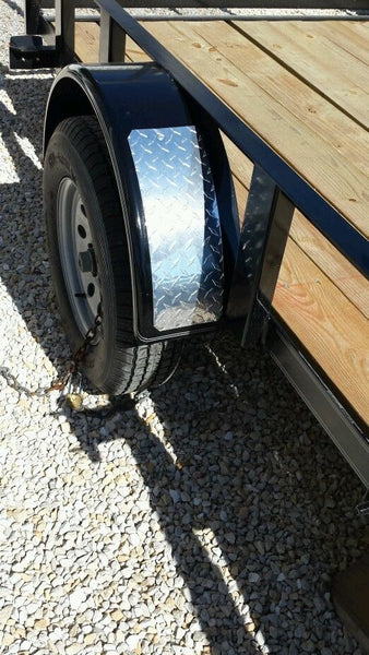 "Small Boat Trailer Diamond Plate Fender Covers horse trailer. 6""x16"""
