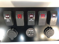 Yamaha Rhino Switch Plate INCLUDED Winch, Rear lights, and Light bar VOLTMETER