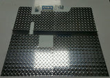 EZGO GOLF CART DIAMOND PLATE FLOORING KIT 99 and up work horse 4 pc.