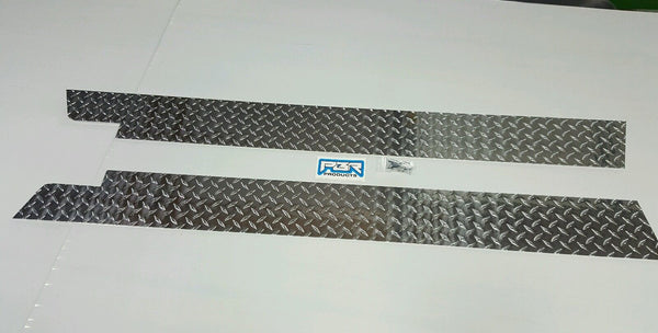 JEEP YJ DIAMOND PLATE SIDE ROCKER PANEL SET OF 2. 6'' WIDE 1987- 95