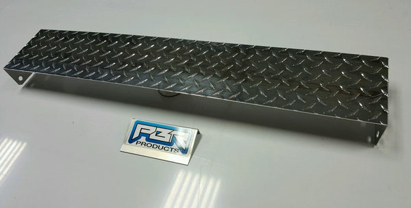JEEP YJ DIAMOND PLATE FRONT FRAME COVER POLISHED ALUMINUM.