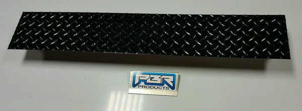 JEEP YJ DIAMOND PLATE FRONT FRAME COVER BLACK POWDER COATED