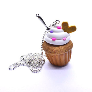 Collier sautoir cupcake biscuit
