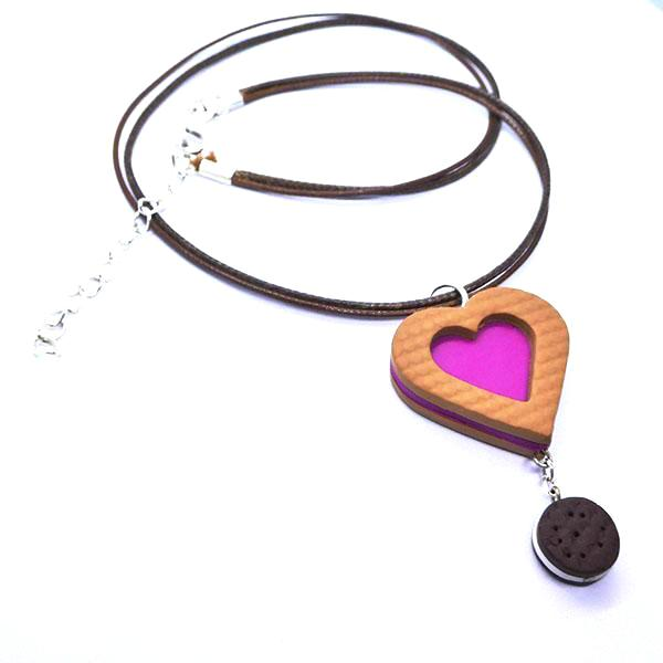 Collier biscuit coeur