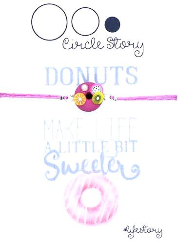Donuts make life a little bit sweeter (donuts fuchsia)