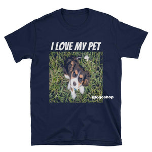 iBogoshop Custom Printed I Love My Pet Short-Sleeve T-Shirt