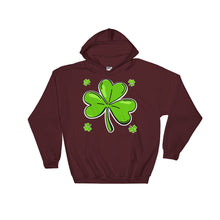 Load image into Gallery viewer, iBOGOSHOP Custom Gear St. Patty's Clover Hoodie