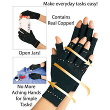 Load image into Gallery viewer, Brand New Copper Arthritis Hand Therapeutic Compression Gloves