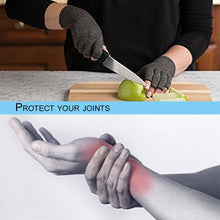 Load image into Gallery viewer, 1Pair Arthritis Therapy Compression Hand Half-finger Gloves