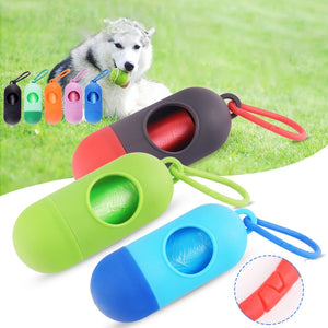 Pill Shape Pet Dog Poop Waste Bag Dispenser