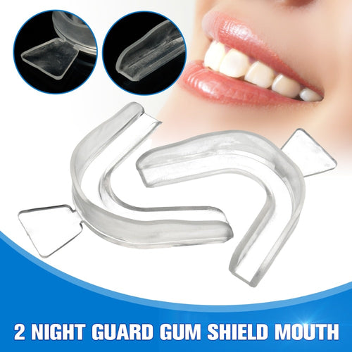 2pcs Transparent Sleep Mouth Guard