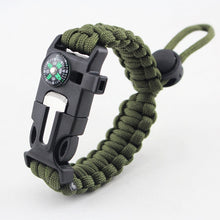 Load image into Gallery viewer, Multi-function Paracord Bracelet 4 in 1 Survival Rope