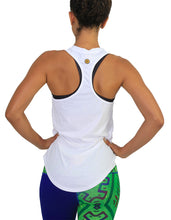 Cotton tank racer back white