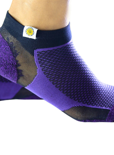 Mens Socks purple and black