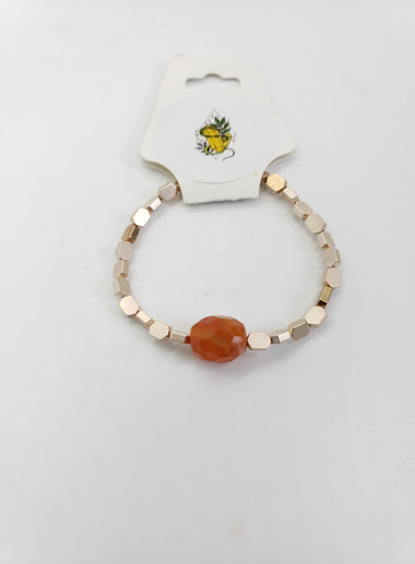 Carnelian and gold Bracelet - The Sacred Serpentine
