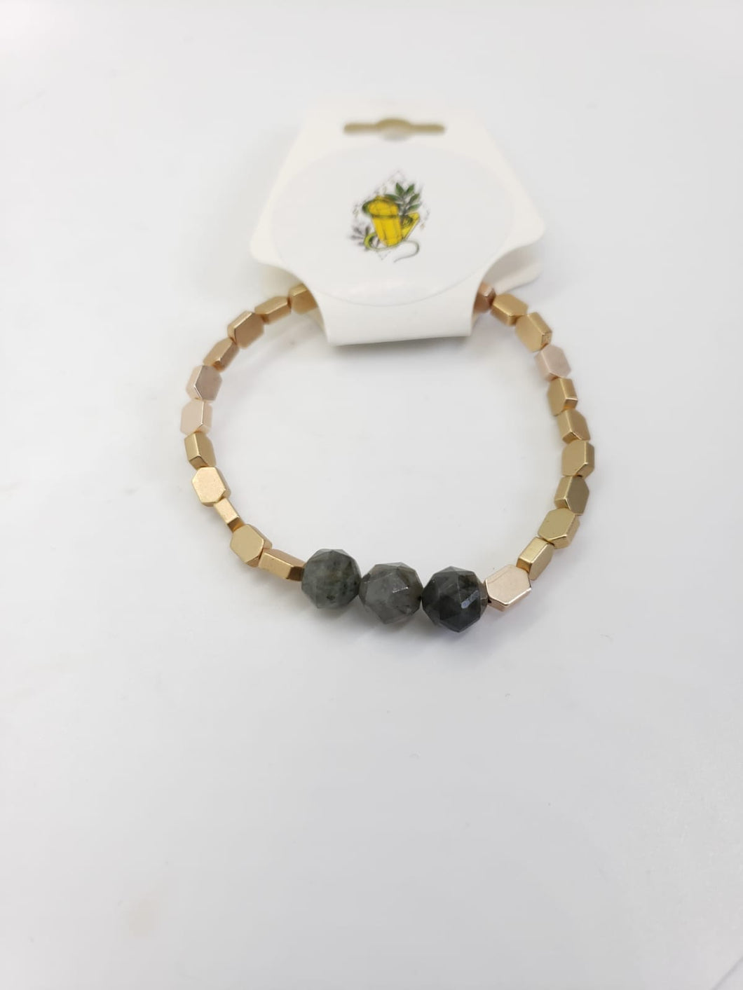 Labradorite and gold Bracelet - The Sacred Serpentine
