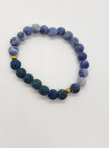 Sodalite Lava Bracelet - The Secret Serpentine