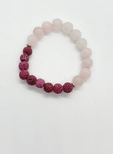 Rose Quartz Lava Bracelet - The Sacred Serpentine