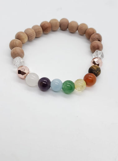 CHAKRA Rosewood Bracelet - The Sacred Serpentine