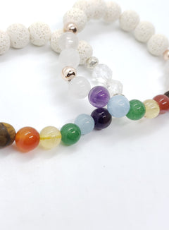 CHAKRA WHITE Lava Bracelet - The Sacred Serpentine