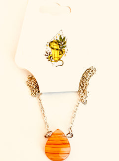 Carnelian Briole Necklace - The Sacred Serpentine