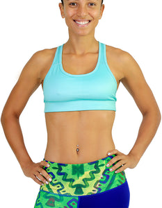 sports bra running green
